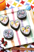 ハート型の巻き寿司