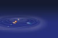 太陽系と彗星 32010000074| 写真素材・ストックフォト・画像・イラスト素材|アマナイメージズ