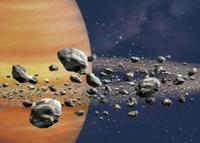 土星の輪を構成する氷の粒