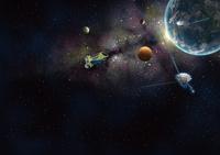 系外惑星の探査 探査機ケプラーやボイジャー1号2号による太陽系外惑星探査のイメージ 32010000176| 写真素材・ストックフォト・画像・イラスト素材|アマナイメージズ
