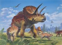 トリケラトプスの親子