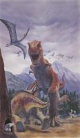子を守るティラノサウルス