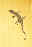 部屋の板壁を歩くニホンヤモリ