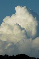 雄大積雲と飛行機