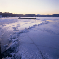 諏訪湖の神渡り PM5:30