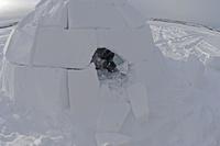 北極圏に生きるイヌイットの氷(雪)の家 イグルー