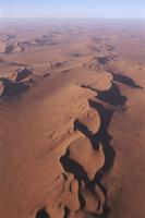 砂丘の風景 (空撮)