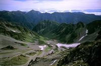 中部山岳国立公園の氷河地形