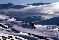 冬のシャーロット・パスからの眺め