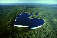 フレーザー島 グレートサンディ国立公園 マッケーンジー湖(ブーラングーラ) 空撮