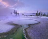 アッパーガイザーベイスンの温泉
