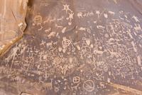 Prehistoric and historic Native American petroglyphs, Newspa