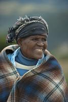 南アフリカ マジョラ地区の老女