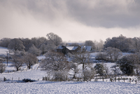 雪の農業地帯