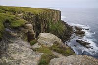 海を臨む断崖の風景