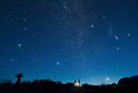 朝星を観察する人々