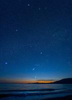 海に沈むオリオン星雲 32268000099| 写真素材・ストックフォト・画像・イラスト素材|アマナイメージズ