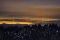 光の柱 クリスマスの夜