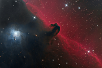 馬頭星雲 IC 434, B33 オリオン座の発光星雲 32268000120| 写真素材・ストックフォト・画像・イラスト素材|アマナイメージズ