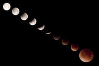 月食シリーズ 米アラスカ州デナリ国立公園