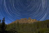 周極星の光跡