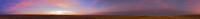 落日の25分前に昇る中秋の名月