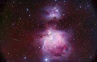 オリオン座のM42 とNGC 1973-5-7星雲 32268000204| 写真素材・ストックフォト・画像・イラスト素材|アマナイメージズ