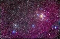船尾座の散開星団 NGC 2451とNGC 2477