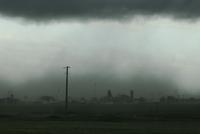 雷雨により生じた砂塵嵐