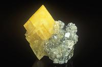 重晶石の結晶と方解石