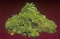 緑鉛鉱の結晶