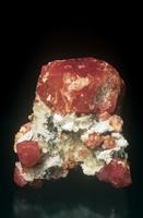 白雲石の中の灰礬ざくろ石の結晶