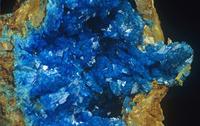 リモナイト(褐鉄鉱)の中のリロコン石の結晶