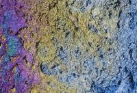 赤鉄鉱(ヘマタイト)のアップ 重要な鉄鉱石 (Fe2O3)