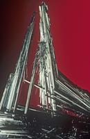 輝安鉱の結晶 アンチモンの主要な鉱石