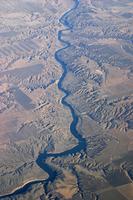 ミズーリ川の蛇行 空撮