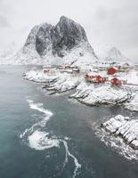 ノルウェーの伝統的な小屋