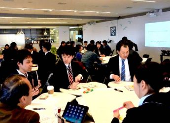 横浜市の地域貢献企業は、定期的に行政などと協働した「地域課題解決ダイアログ」などを開催しています。