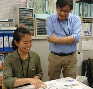 小俣さん(右)は、SDGsをNGO活動に生かして、組織強化につなげる講座なども企画している。