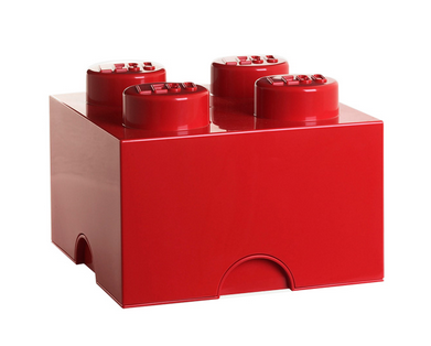 【賃貸】LEGO STORAGE BRICK 4 RED