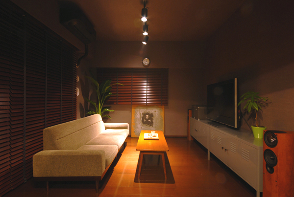 インテリア 通販 照明+観葉植物