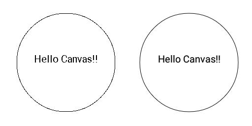 図1.14: アンチエイリアスが無効な状態(左)と有効な状態(右)