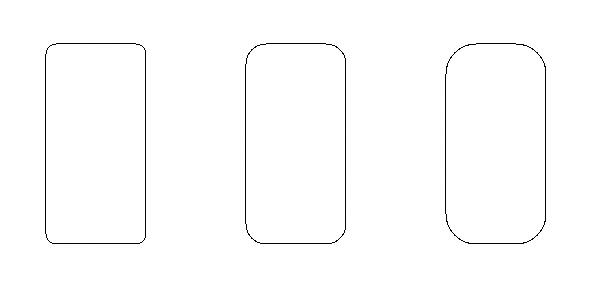 図1.6: 3つの角丸短径が描かれている