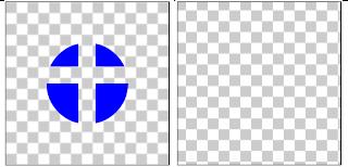 図1.16: CLEAR: ハードウェア・アクセラレーション有効時(左)、無効時(右)