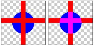 図1.15: LIGHTEN: ハードウェア・アクセラレーション有効時(左)、無効時(右)