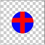 図1.11: SRC_ATOP: 丸(DST)にSRC_INの結果を重ねている