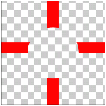 図1.9: SRC_OUT: 十字(SRC)を丸(DST)の画像で型抜きしている