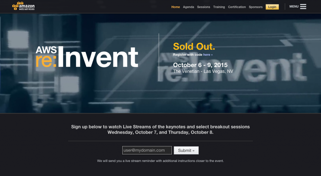 AWS re Invent 2015
