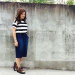 GUのデニムスカートで女子力アップ!おしゃれなカジュアルコーデのサムネイル画像