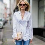 大人女子にぴったり!白シャツ×デニムパンツで作るキレカジスタイルのサムネイル画像